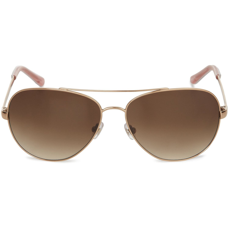 e10f3abfdfc4d Shop Kate Spade Womens  Avaline 0AU2  Rose Goldtone Aviator Metal Sunglasses  - Free Shipping Today - Overstock - 9051425