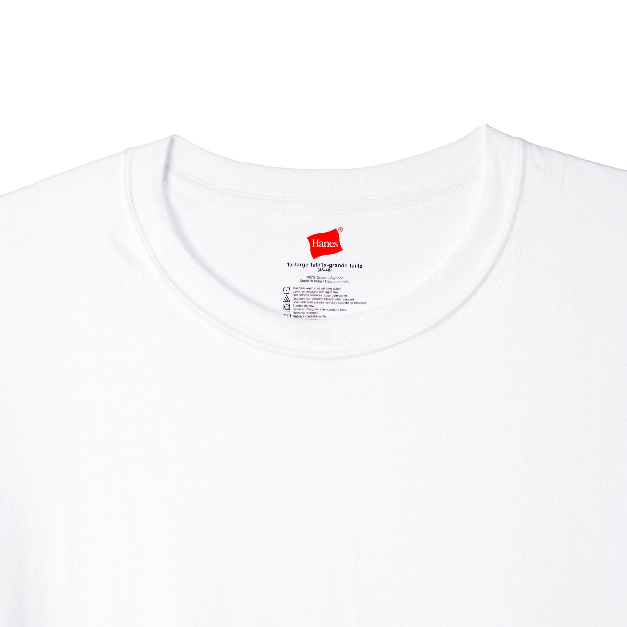 d97cf061cfa Shop Hanes Men s Big   Tall White Crew Neck Tees (Pack of 3) - Free  Shipping On Orders Over  45 - Overstock - 9051443