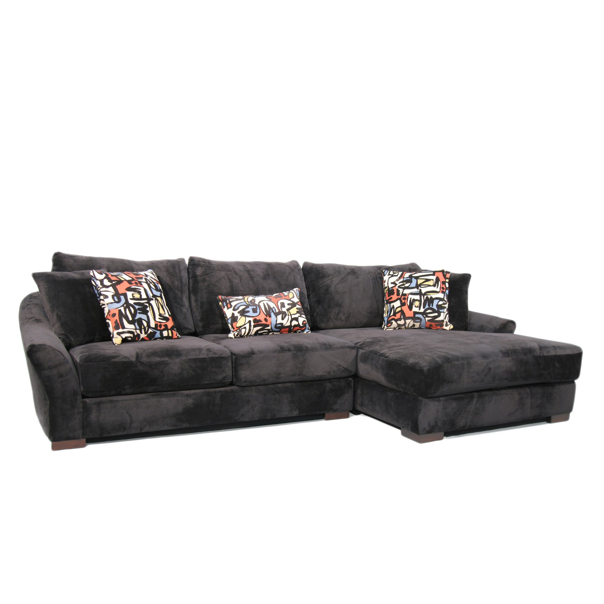 Fairmont Designs Made To Order Audrey 3-piece Ebony Sectional Sofa ...