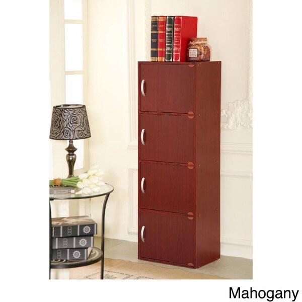 4door Wood Storage Cabinet Free Shipping Today Overstockcom