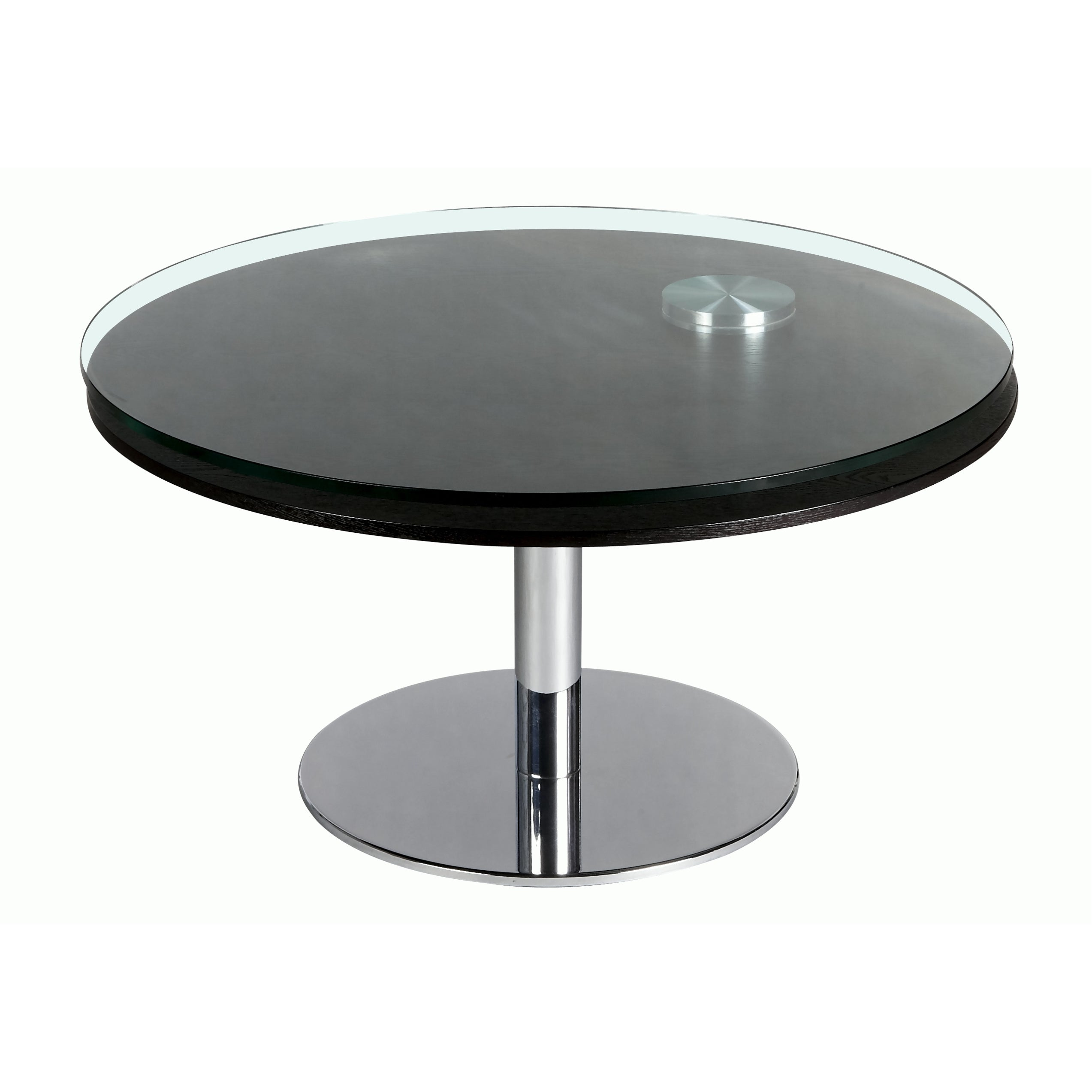 Somette Clear Glass Motion Cocktail Table Free Shipping Today