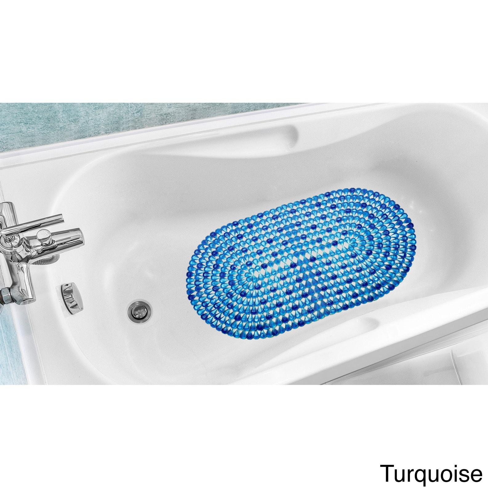 Shop Crystal Design Slip Resistant Bathtub Mat - Free Shipping On ...