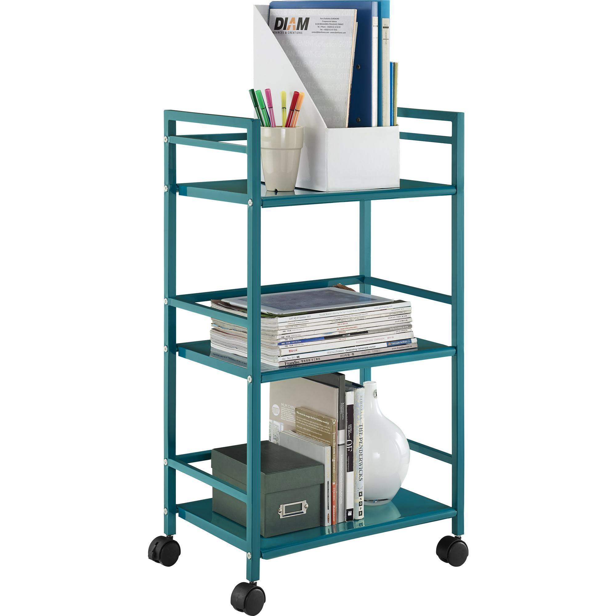 shop porch den wicker park julian 3 shelf rolling utility cart free shipping today overstockcom 20339652 - Rolling Utility Cart