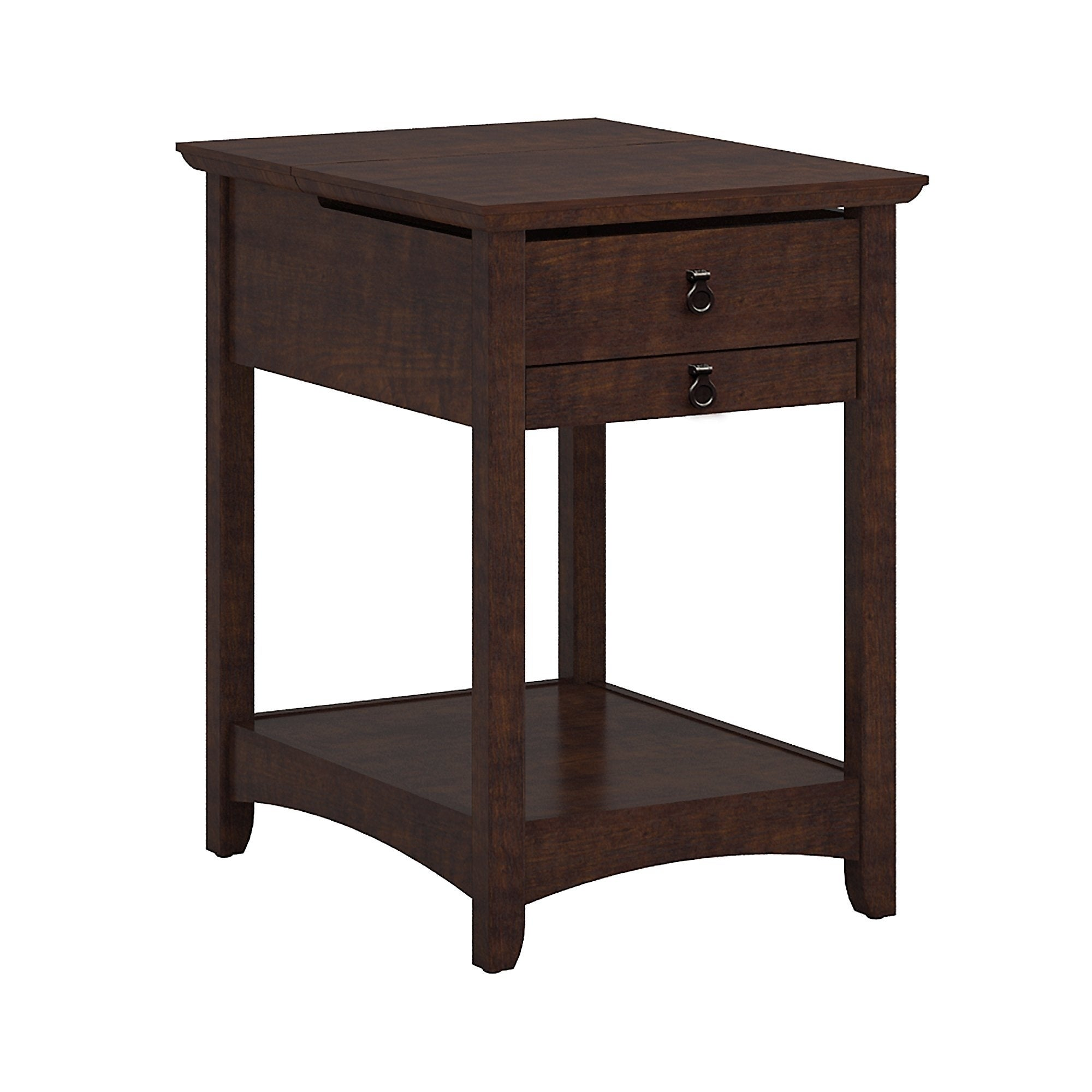 Bush Furniture Buena Vista Laptop End Table In Madison Cherry   Free  Shipping Today   Overstock.com   16251231
