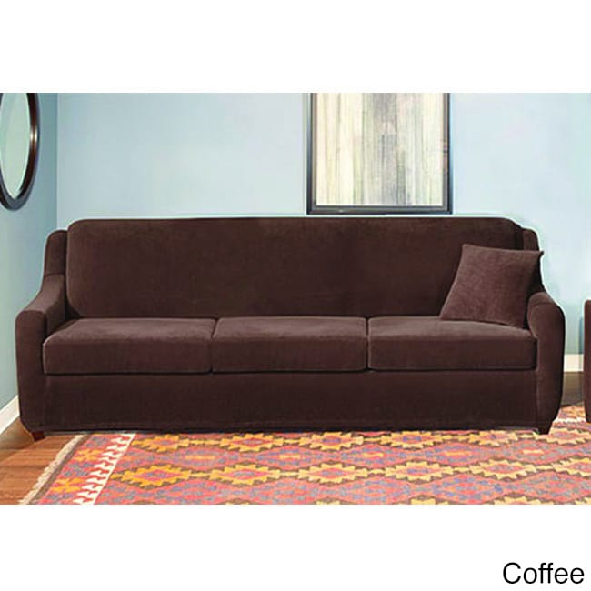 Sure Fit Stretch Pearson 3 Cushion Sleeper Sofa Slipcover Free Shipping Today 9056252
