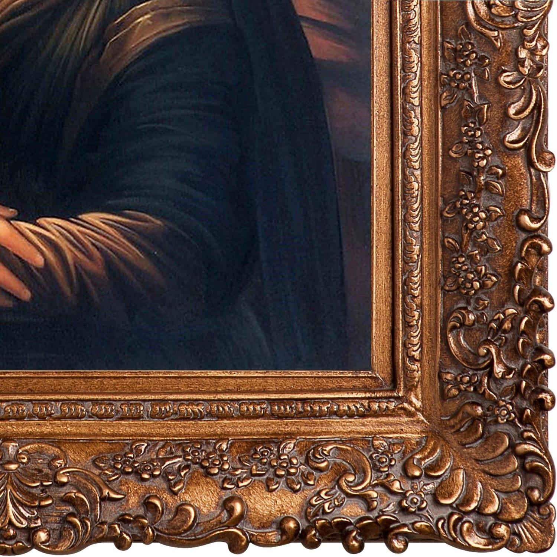 Shop Leonardo Da Vinci \'Mona Lisa\' Hand Painted Framed Canvas Art ...