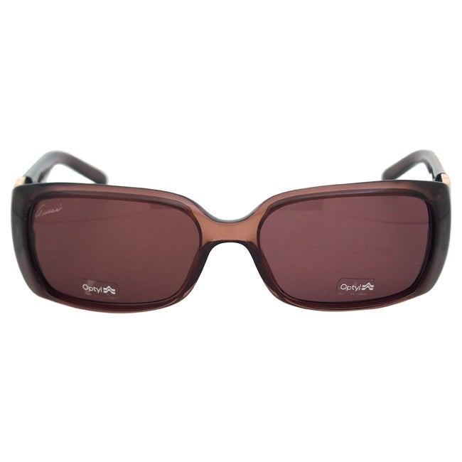 7146dc1520 Shop Gucci Women s  GG 3504 S WOOFX  Sunglasses - Free Shipping Today -  Overstock - 9060715