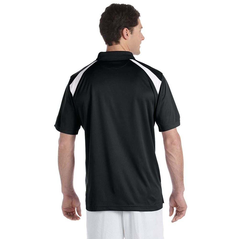 Shop Mens Colorblocked Polytech Moisture Wicking Polo Free