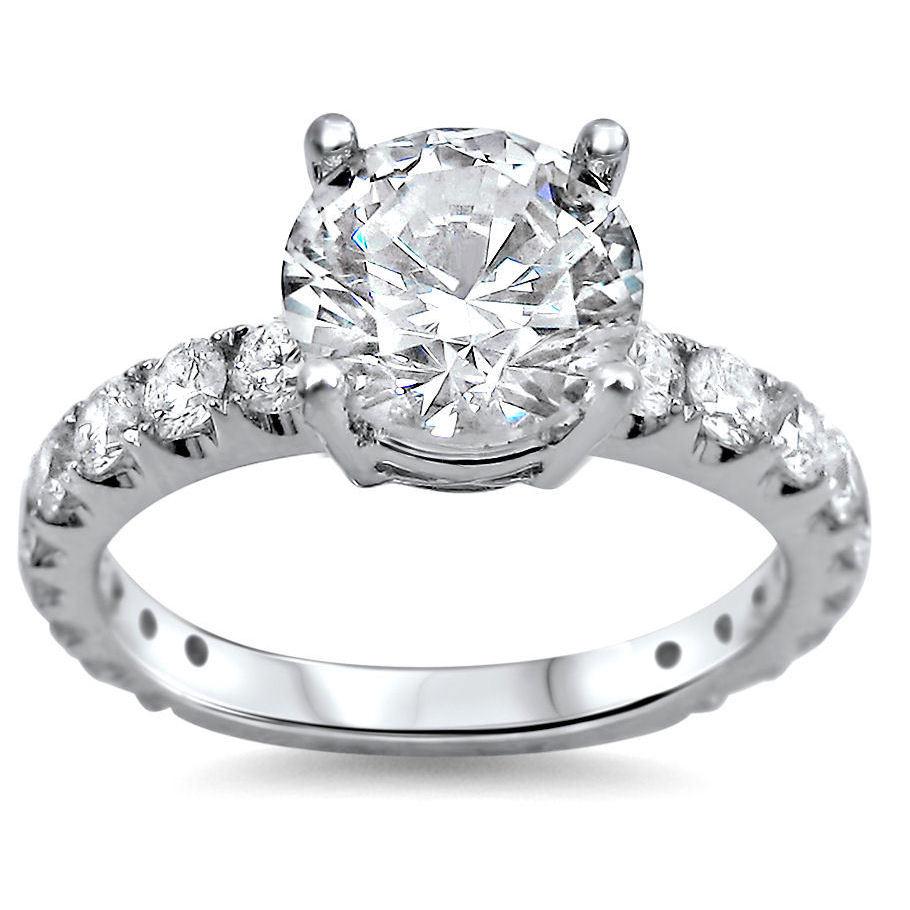 Noori 18k White Gold 2ct TDW Round Clarity-enhanced Diamond Engagement Ring 161ff6de55