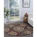 Alise Lagoon Brown Transitional Area Rug (5'3 Round)