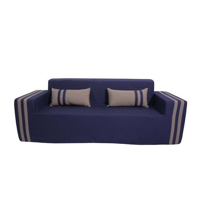 Shop Softblock Kidsu0027 Navy Indoor/Outdoor Foam Sofa   On Sale   Free  Shipping Today   Overstock.com   9063985