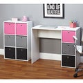 Simple Living Jolie Large Pink Writing Desk and Bookcase Set