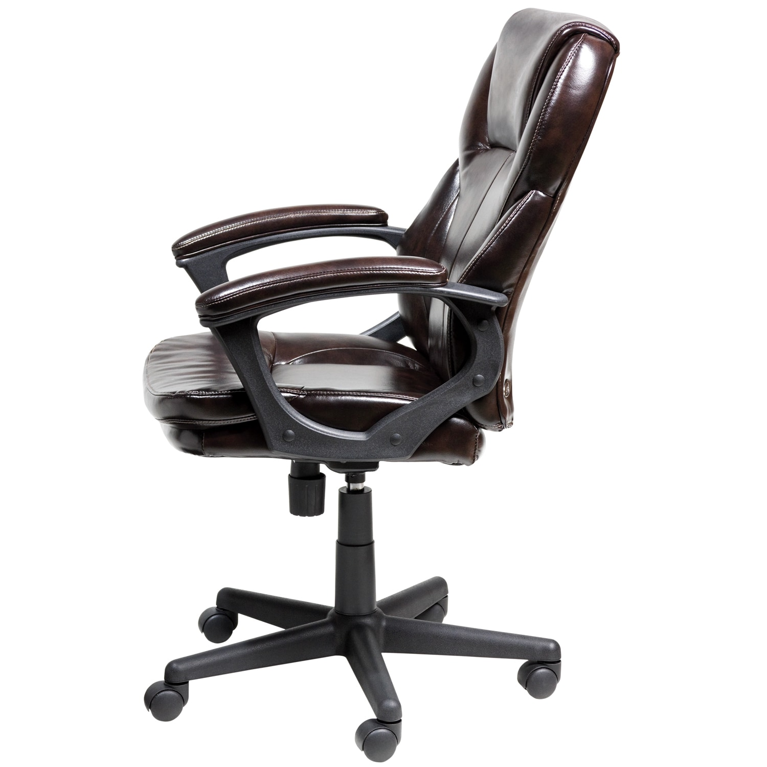 Nice Serta Roasted Chestnut Brown Puresoft Faux Leather Managers Office Chair    Free Shipping Today   Overstock.com   16260147