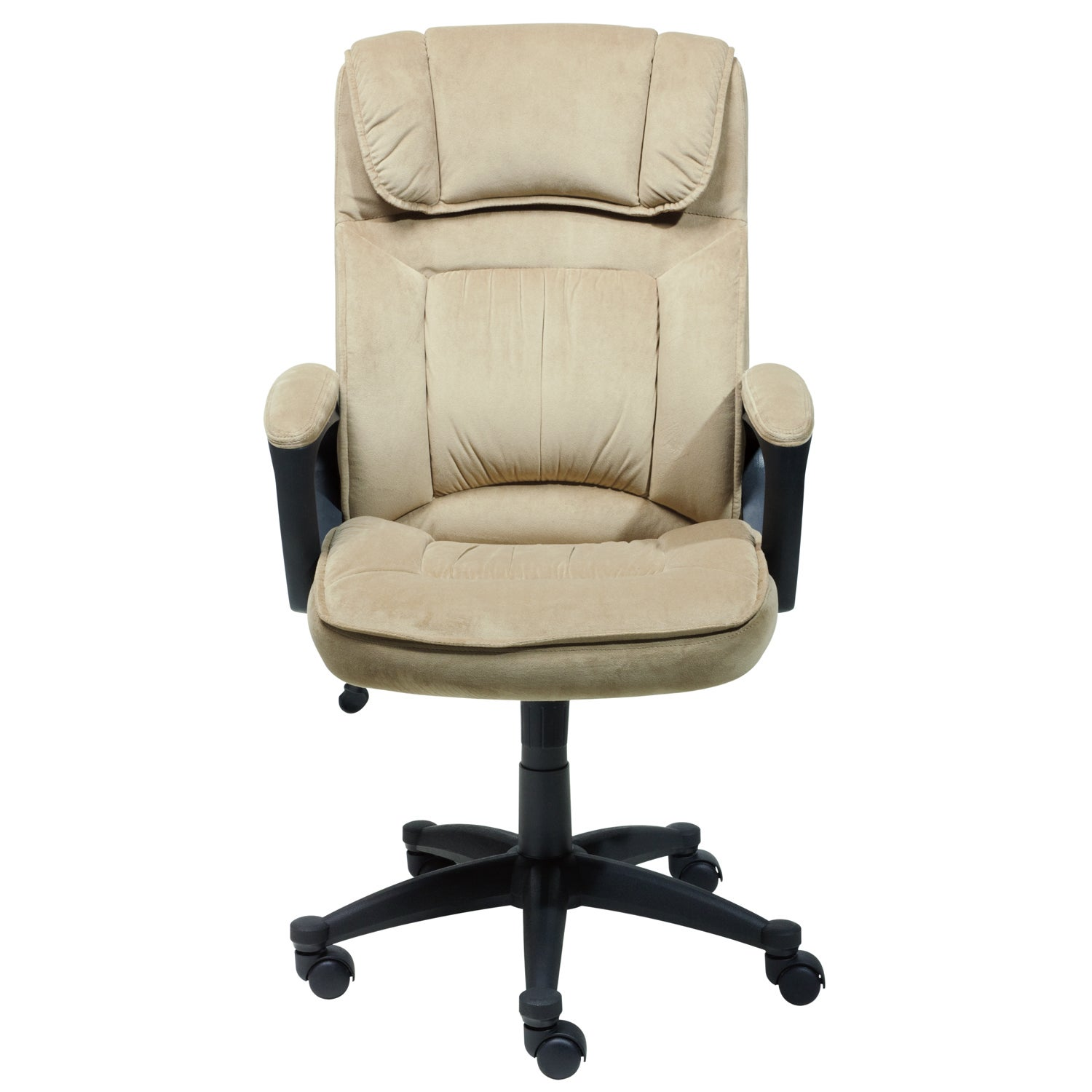 Captivating Serta Light Coffee Microfiber Executive Office Chair   Free Shipping Today    Overstock.com   16260148