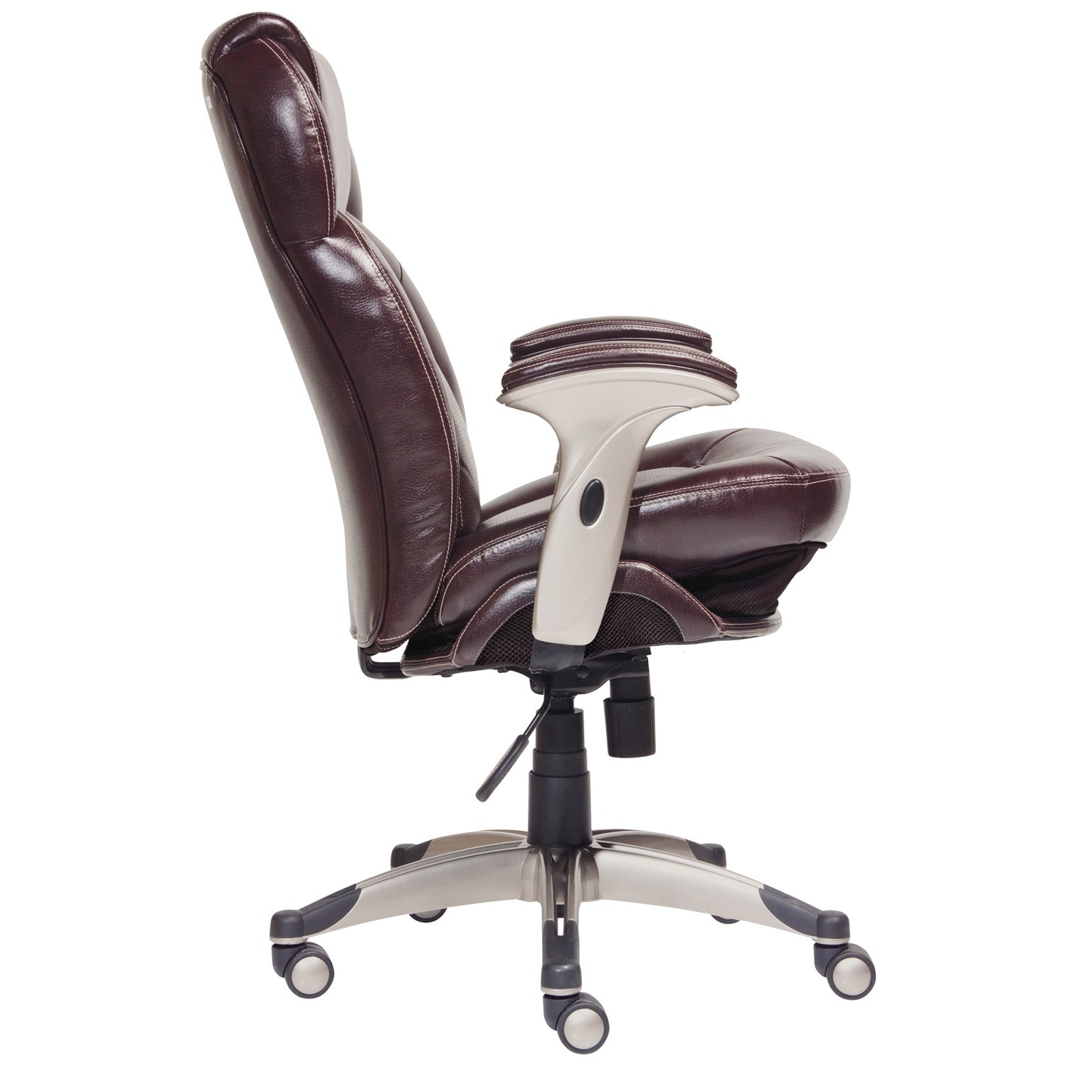 executive leather overstock tall home shipping faux office puresoft garden serta black big smooth and today chair free product