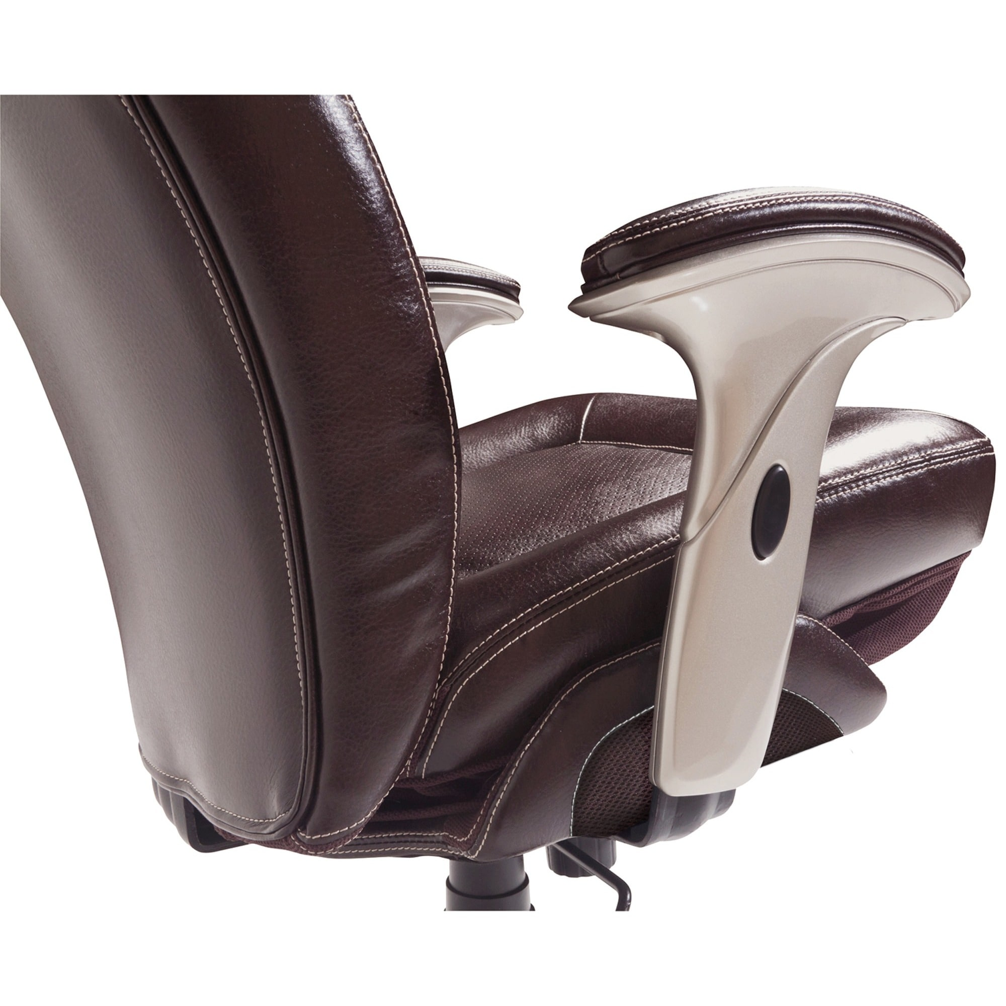 Shop Serta Back In Motion Health And Wellness Frye Chocolate Bonded Leather  Office Chair   Free Shipping Today   Overstock.com   9066793