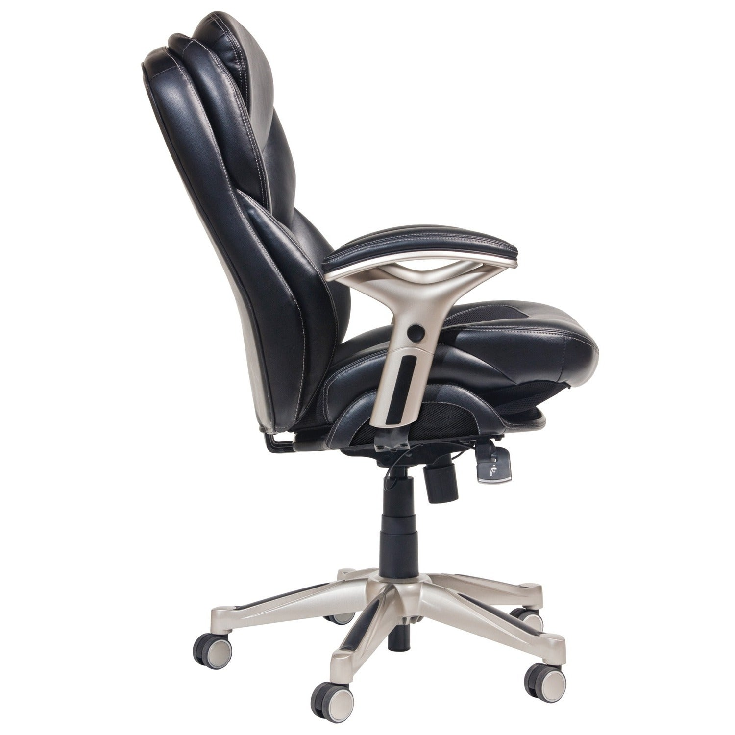 Shop Serta Black Bonded Leather Office Chair Free Shipping Today