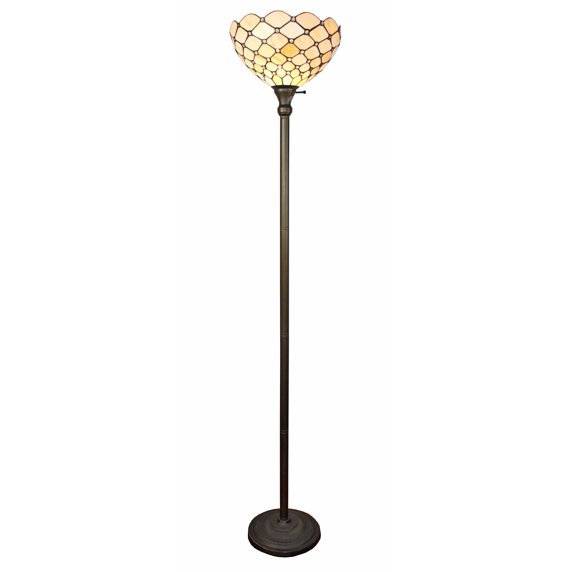 tiffany lamps home depot torchiere floor canada toronto brass style halogen lamp