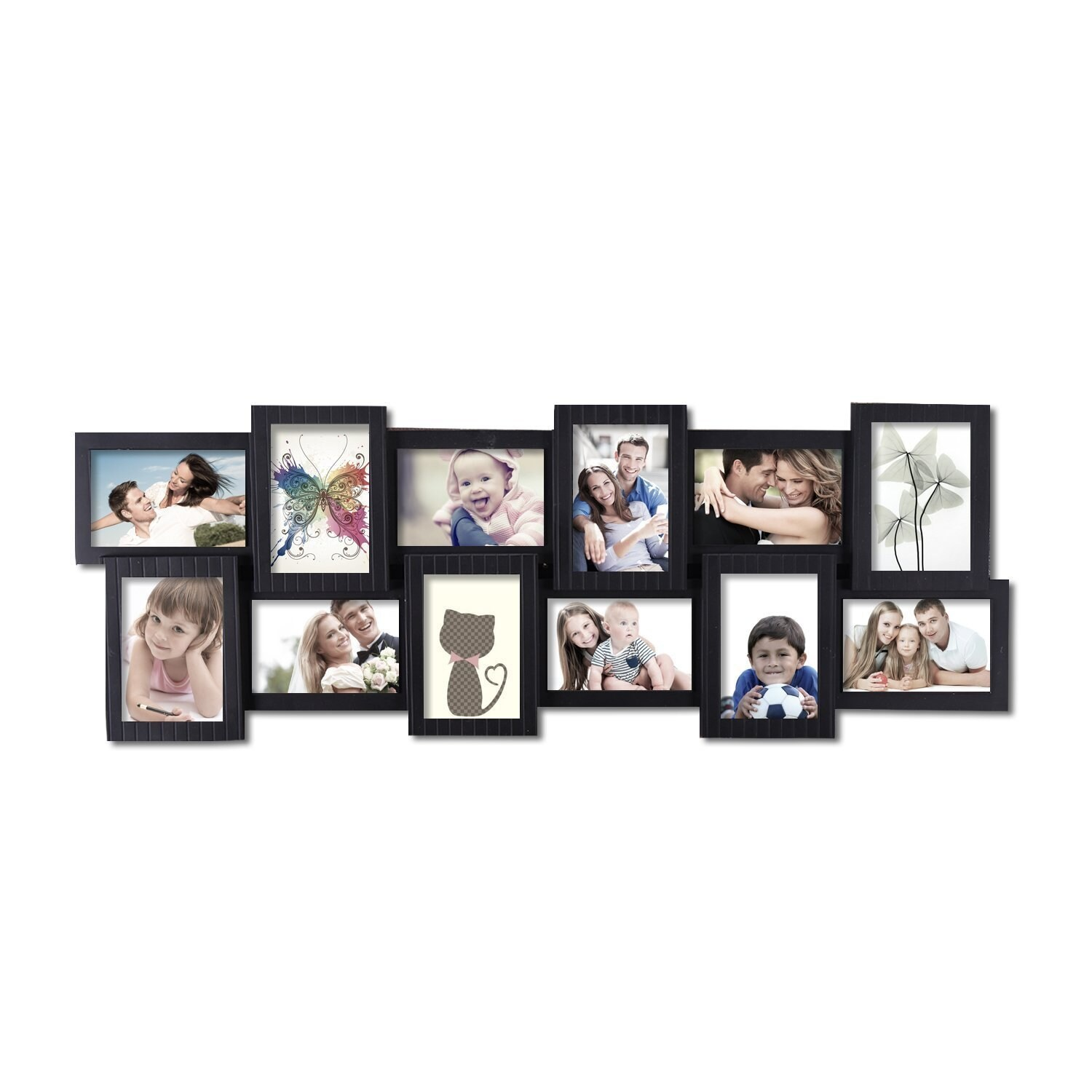 Shop 12-opening 4x6 Black Plastic Wall Hanging Collage Picture Photo ...