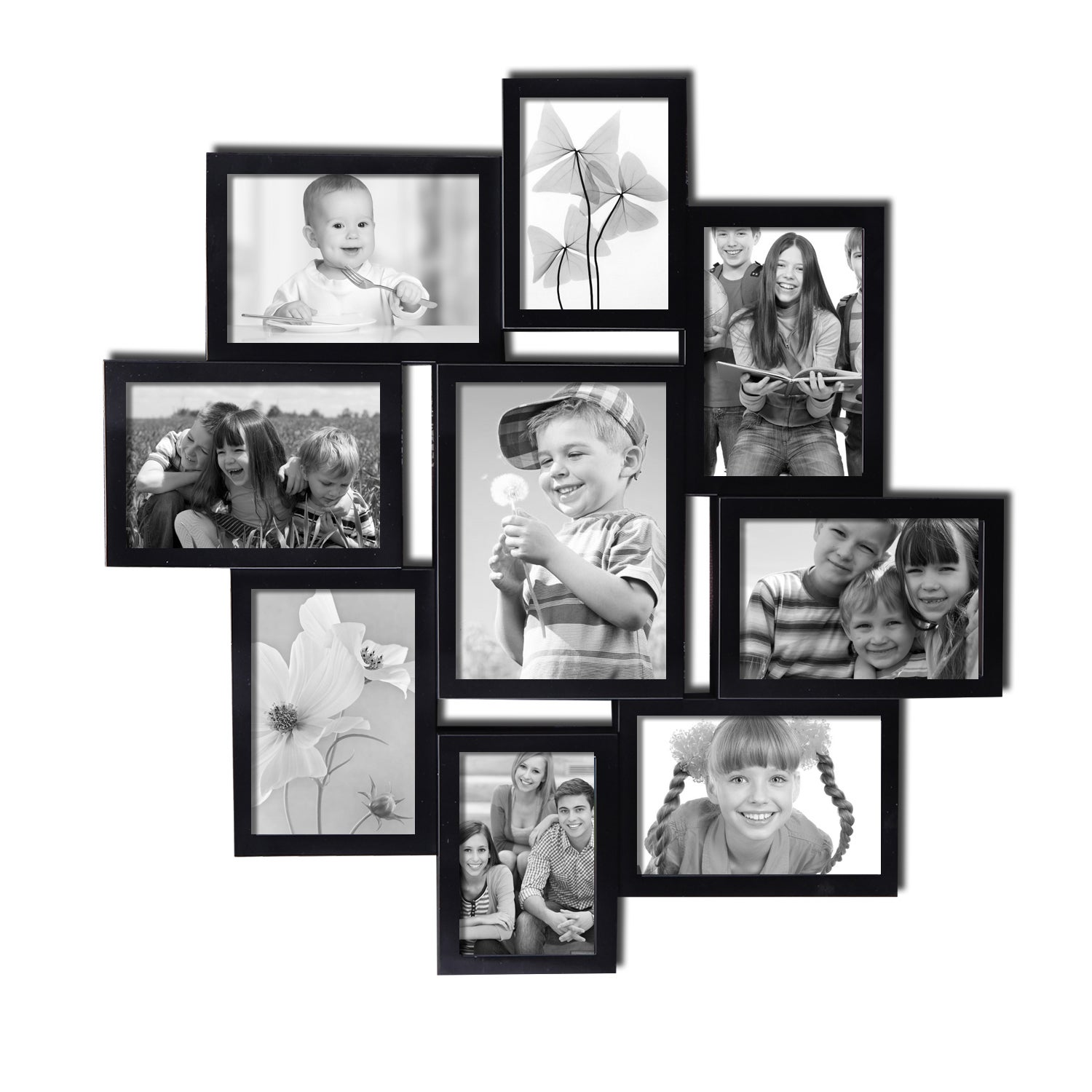 High end decorative black wood collage picture photo frame with high end decorative black wood collage picture photo frame with glass front multiple coating and scraping color free shipping today overstock jeuxipadfo Images