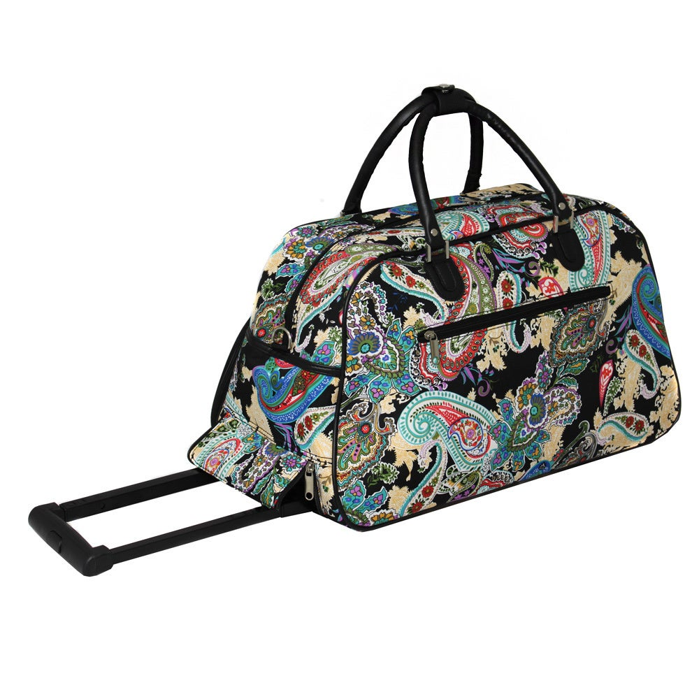 Shop World Traveler Paisley Artisan 22-inch Carry-on Rolling Upright Duffel  Bag - Free Shipping Today - Overstock.com - 9068081 443b81c571