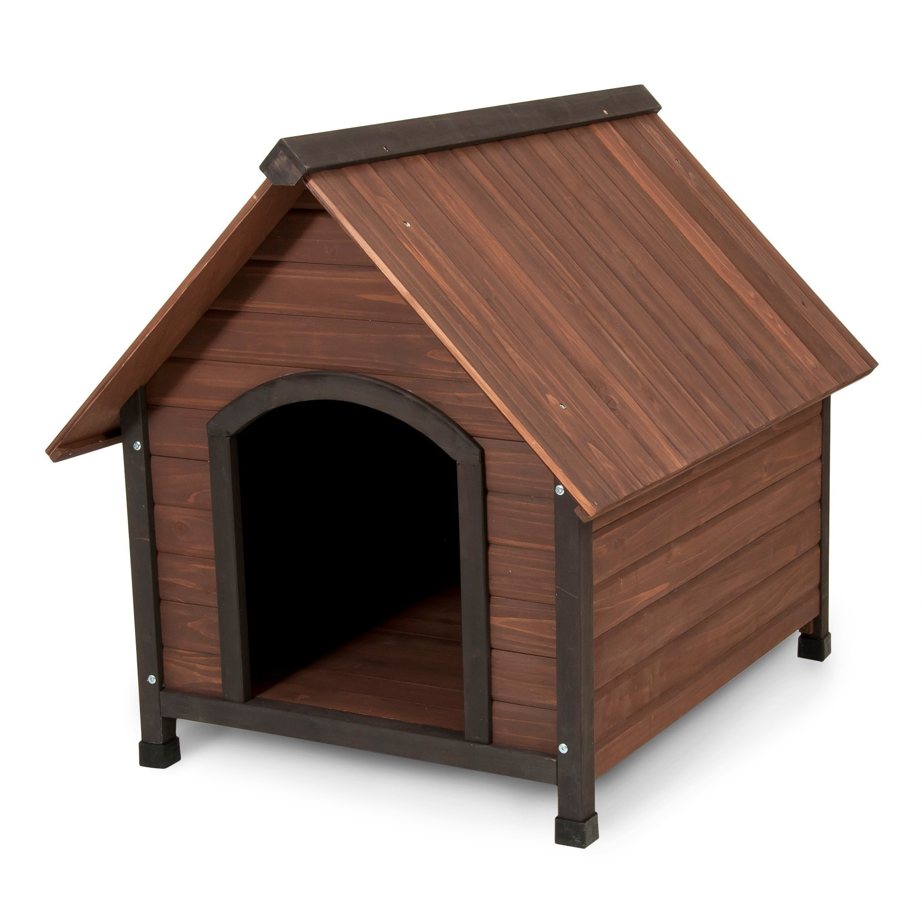 Shop Aspen Pet Ruff Hauz Peak Roof Wooden Dog House Free Shipping