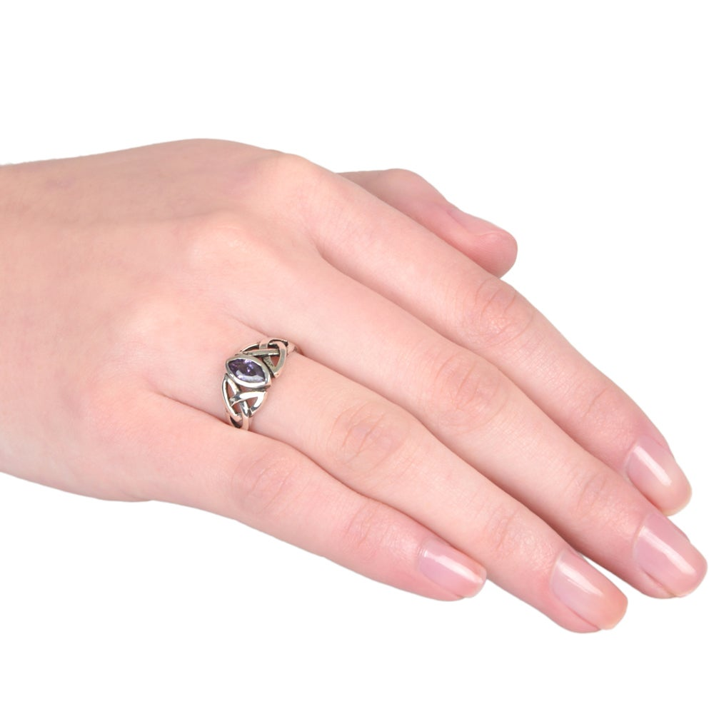 Journee Collection Sterling Silver Cubic Zirconia Celtic Ring - Free ...