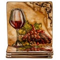 Hand-painted Tuscan View 8.5-inch Ceramic Salad/Dessert Plates (Set of 4)