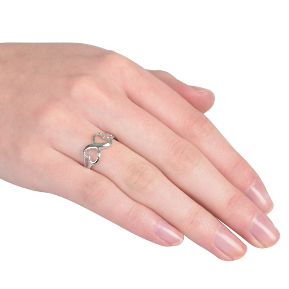 Shop Journee Collection Sterling Silver Infinity Heart Ring - Free ...