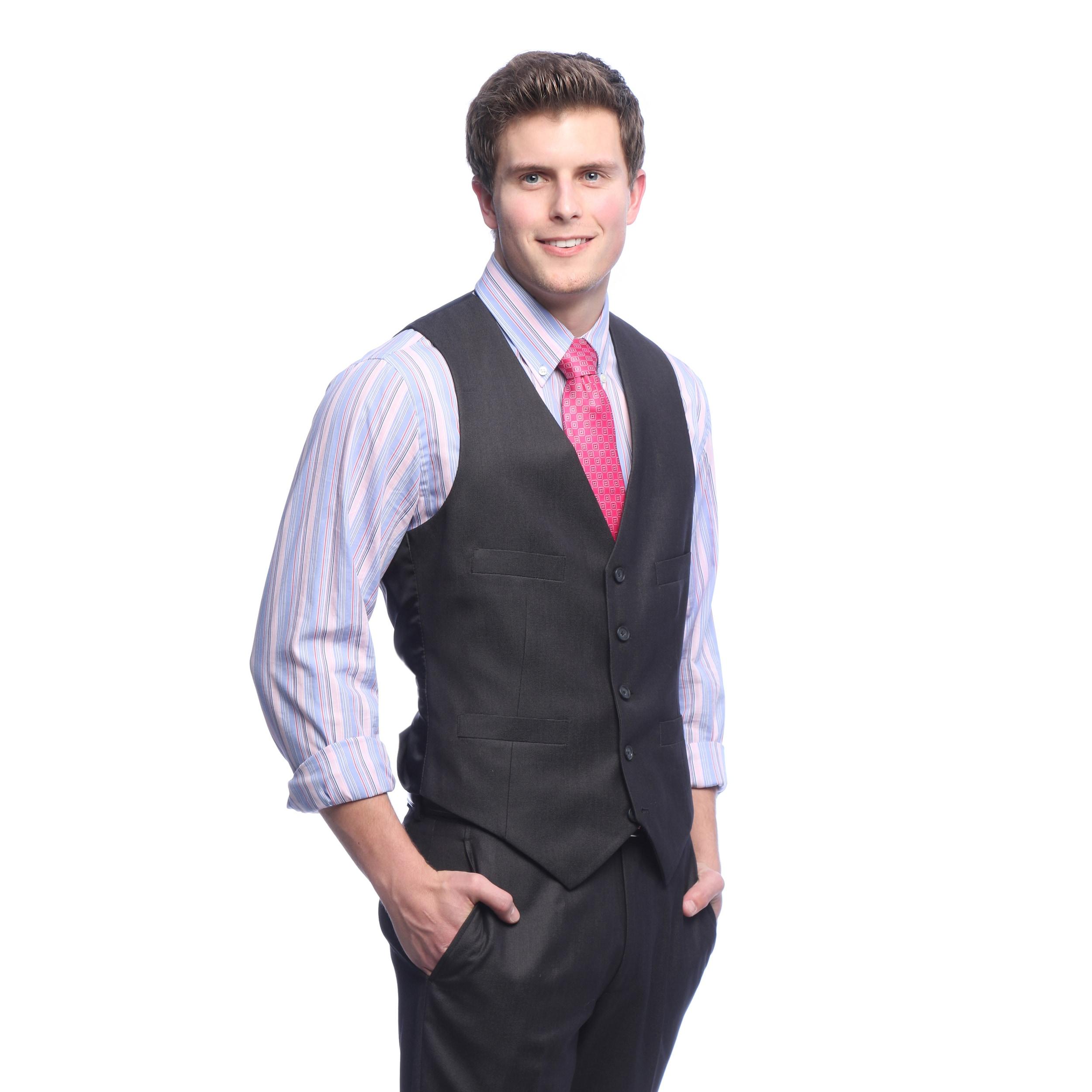 4d0b2268c5 Shop Kenneth Cole Reaction Men s Slim Fit Charcoal Suit Separates ...