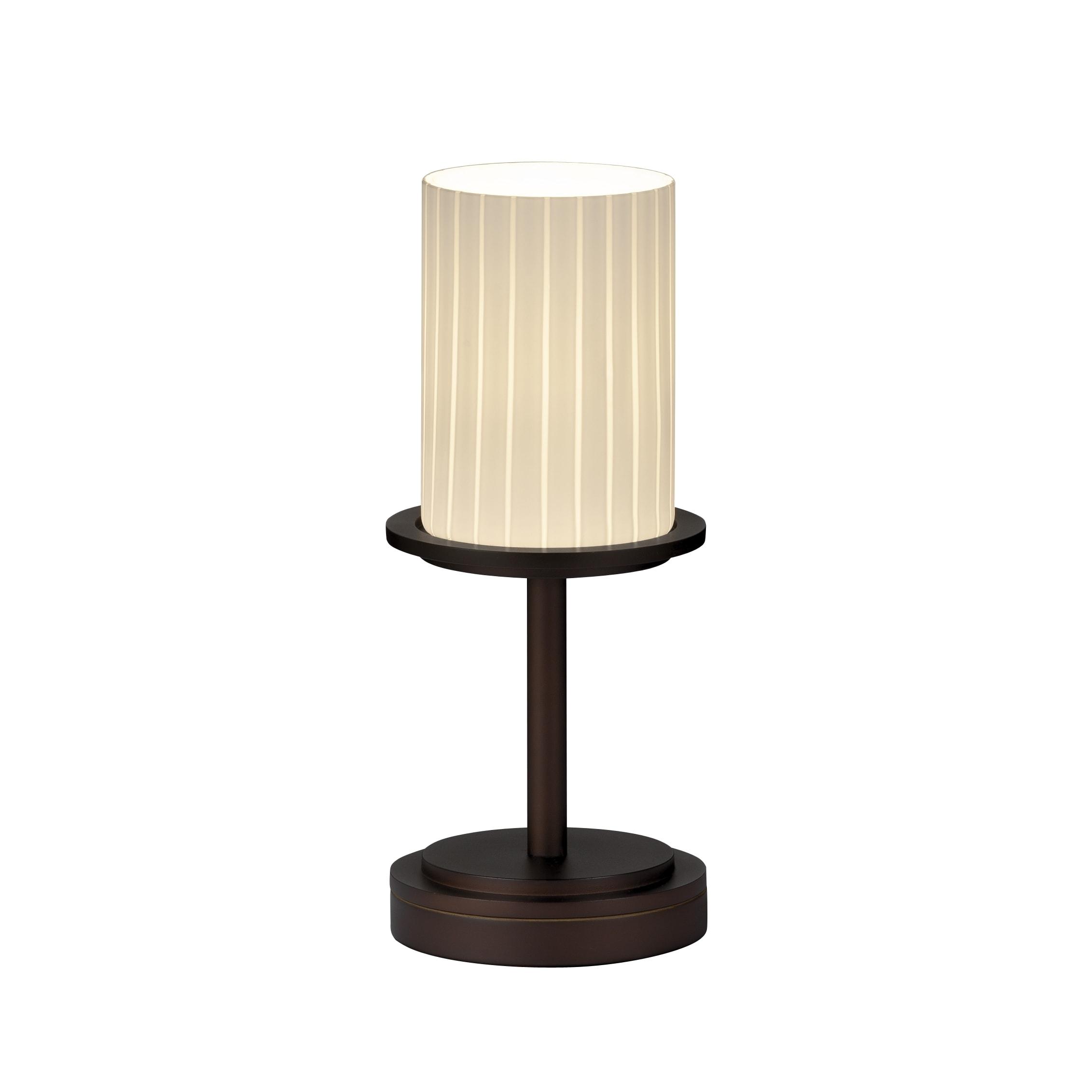 Shop Justice Design Group Fusion Dakota 1 Light Dark Bronze Table
