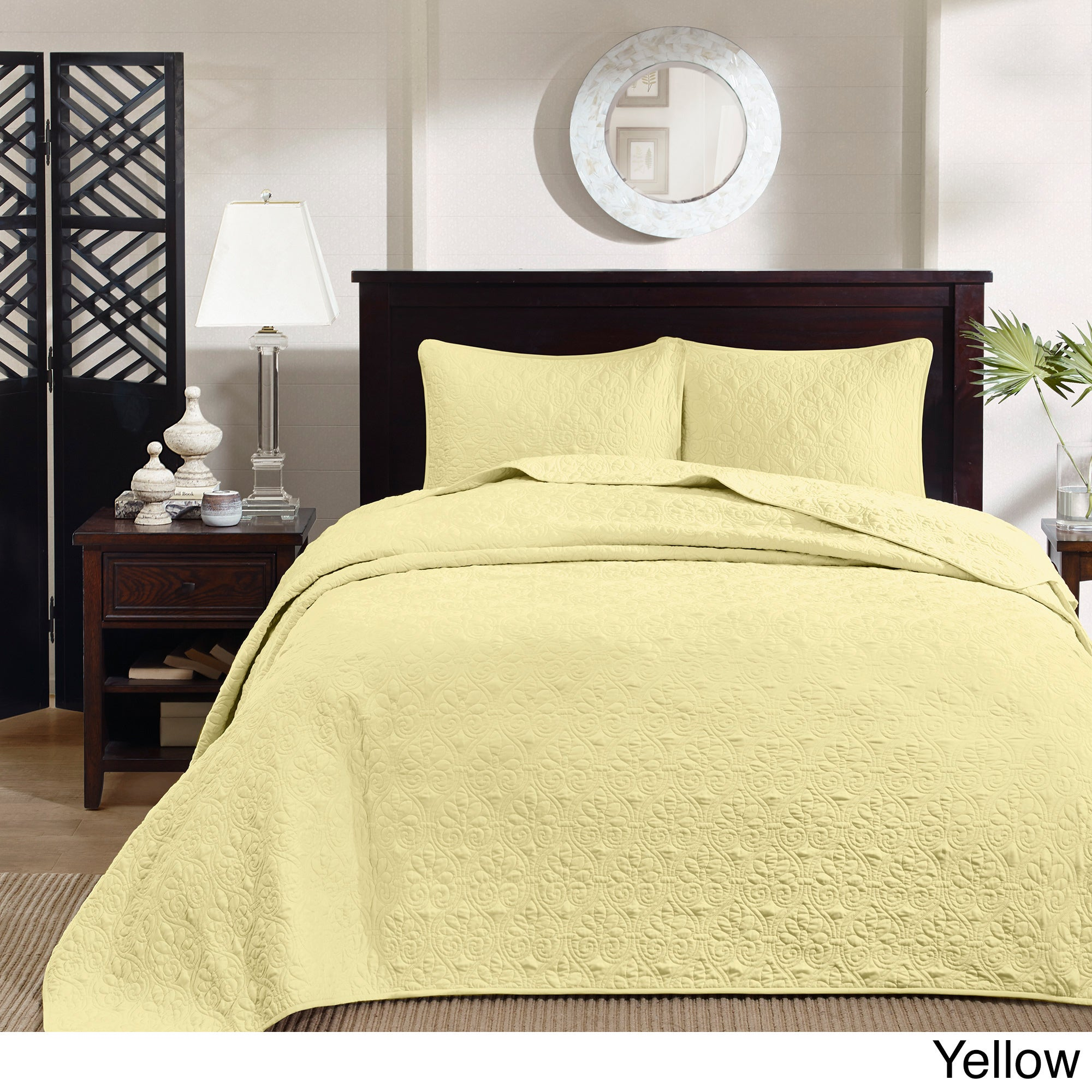 Madison Park Mansfield Oversized 3-piece Bedspread Mini Set - Free Shipping  Today - Overstock.com - 16269829