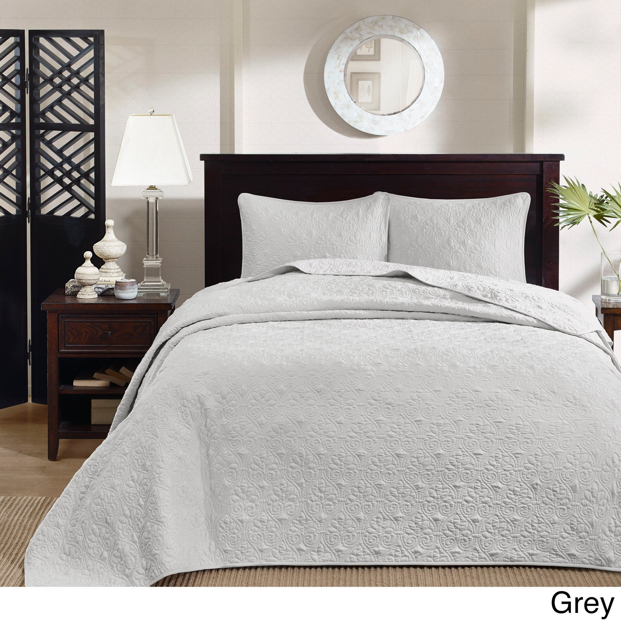 Madison Park Mansfield Oversized Bedspread Mini Set 9 Color Option