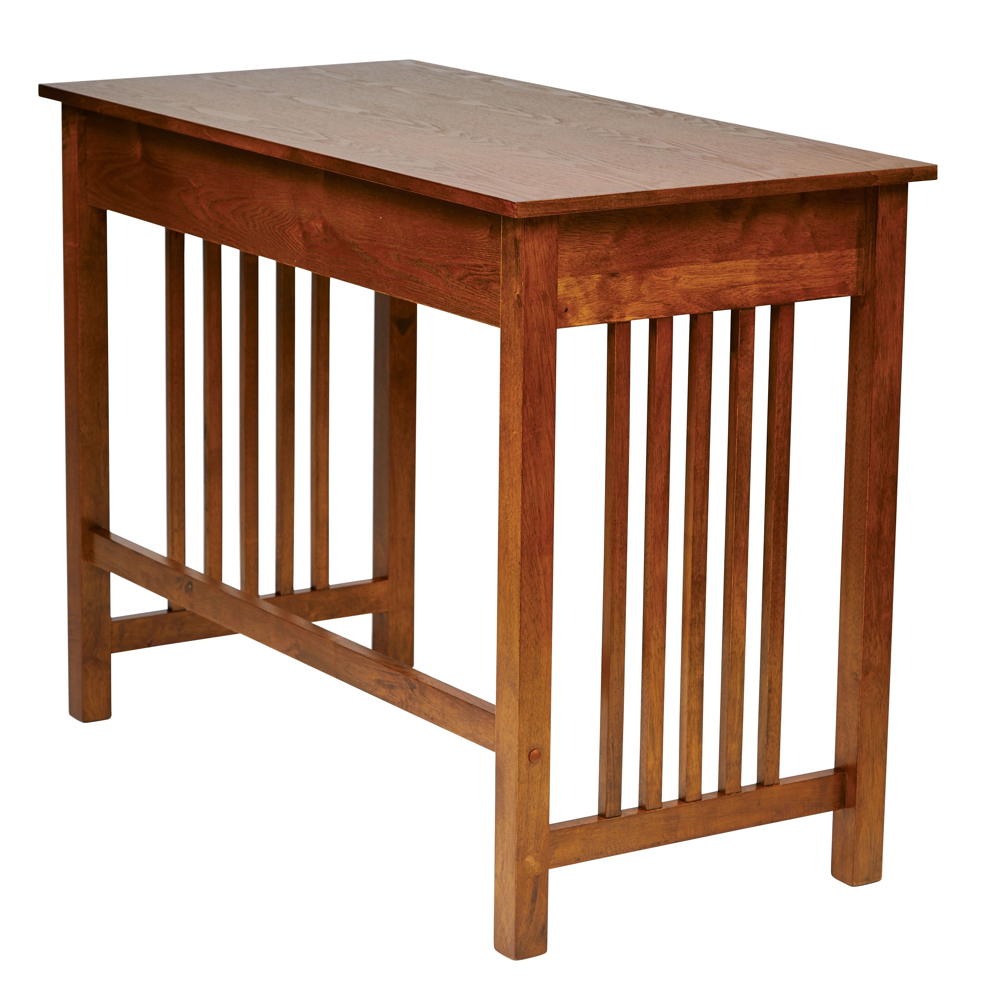 Osp Home Furnishings Mission Desk In Ash Oak Finish With Pull Out Drawer Solid Wood Legs On Free Shipping Today 20603116