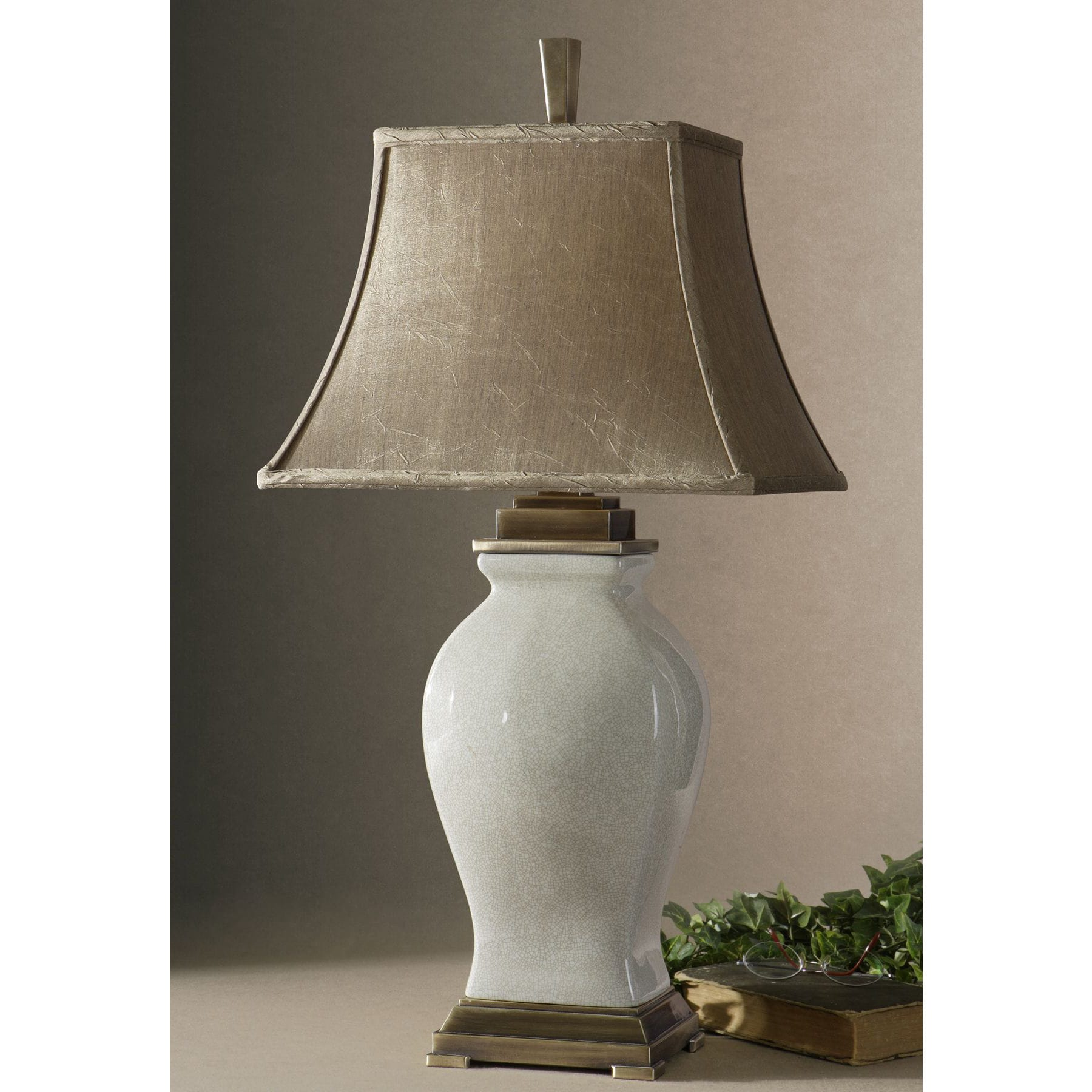Shop uttermost rory ivory table metal and porcelain table lamp shop uttermost rory ivory table metal and porcelain table lamp free shipping today overstock 9079662 aloadofball Images