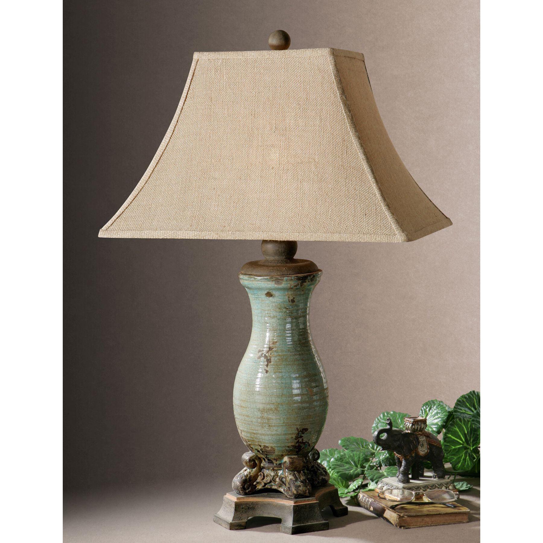 Shop Uttermost Andelle Light Blue Ceramic Metal Table Lamp Free