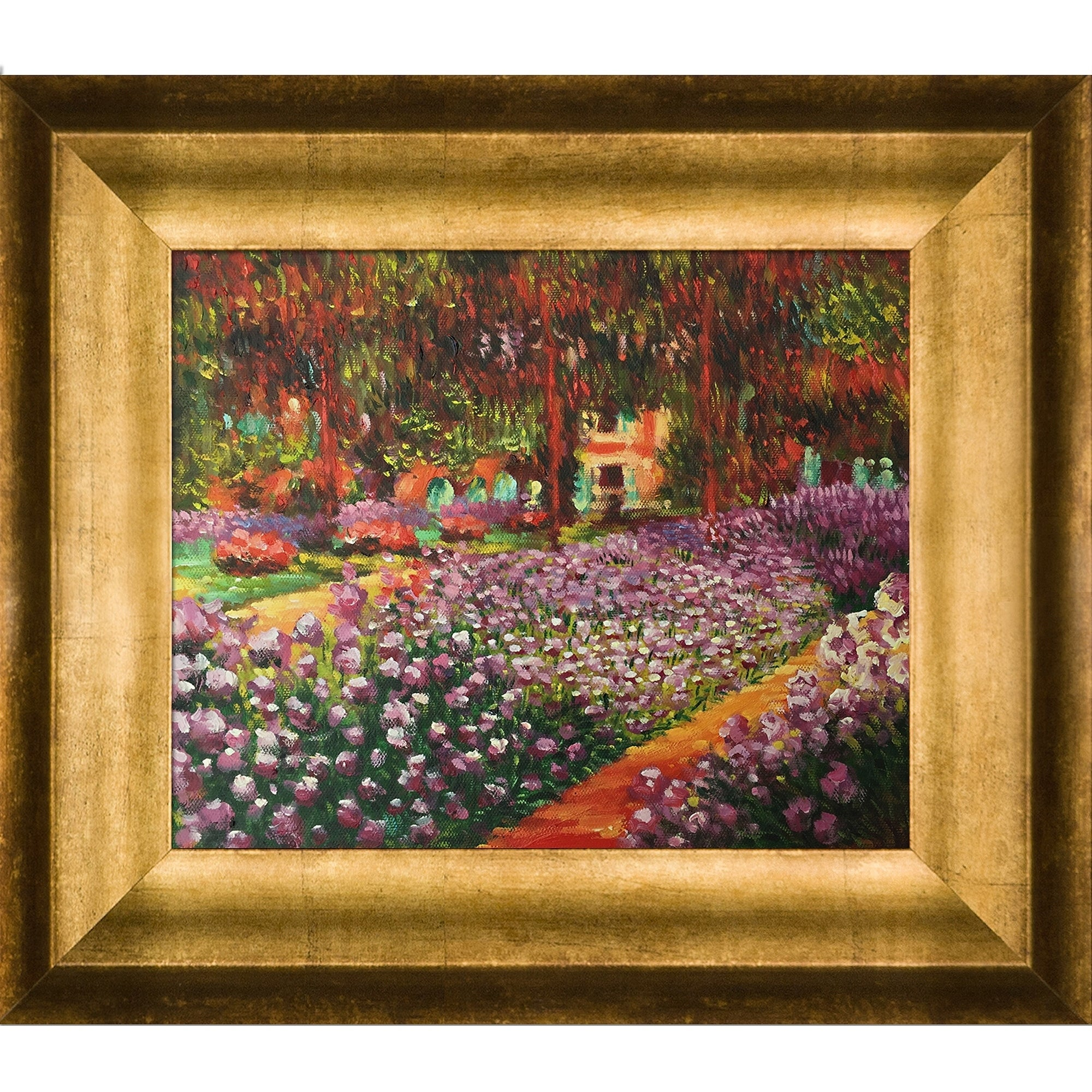 Shop Claude Monet \'Artist\'s Garden at Giverny\' Hand Painted Framed ...