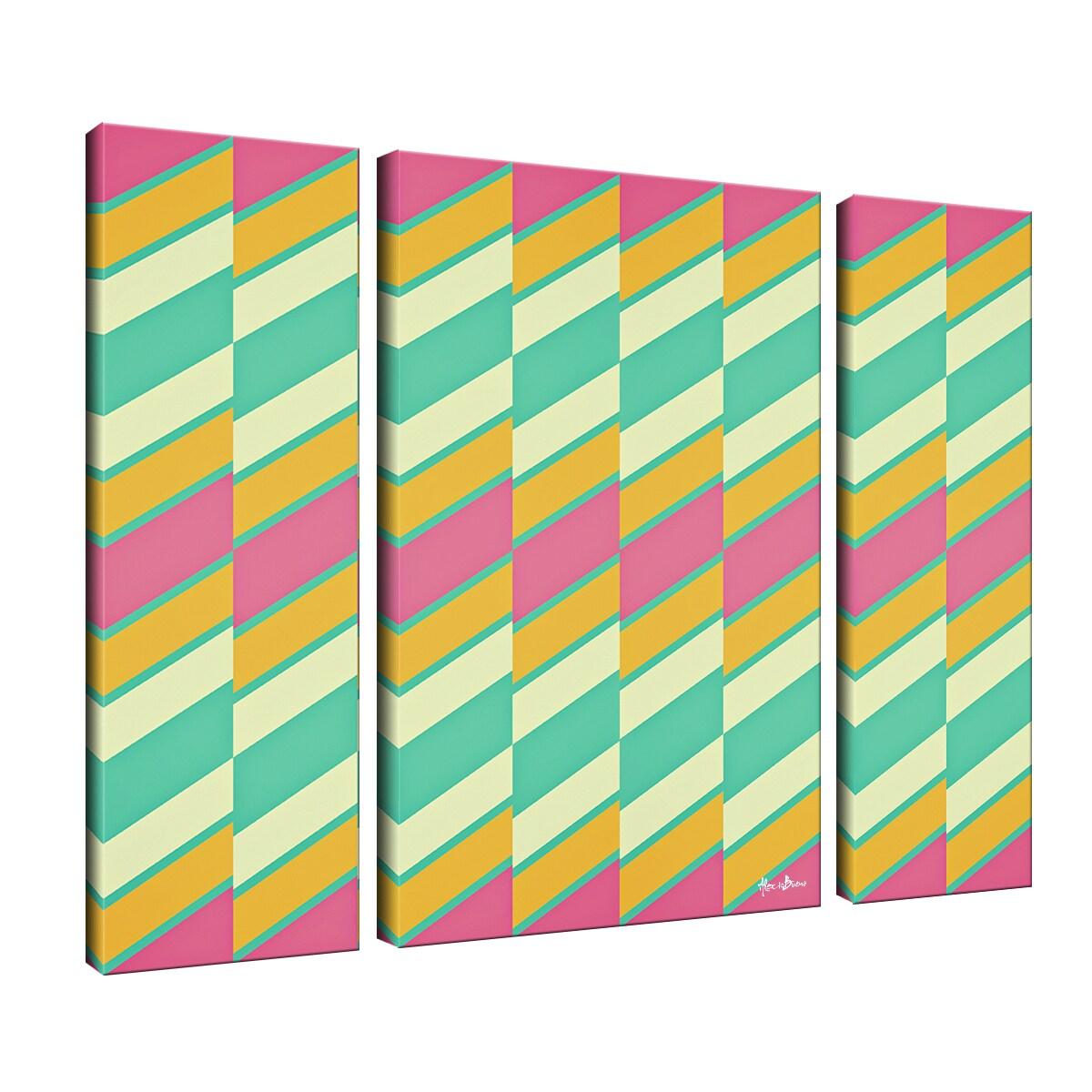 Shop Ready2HangArt \'Geometric Study XVII\' Canvas Wall Art (3-piece ...