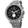 Joshua & Sons Men's Bold Multifunction Dazzling Silver-Tone Bracelet Watch