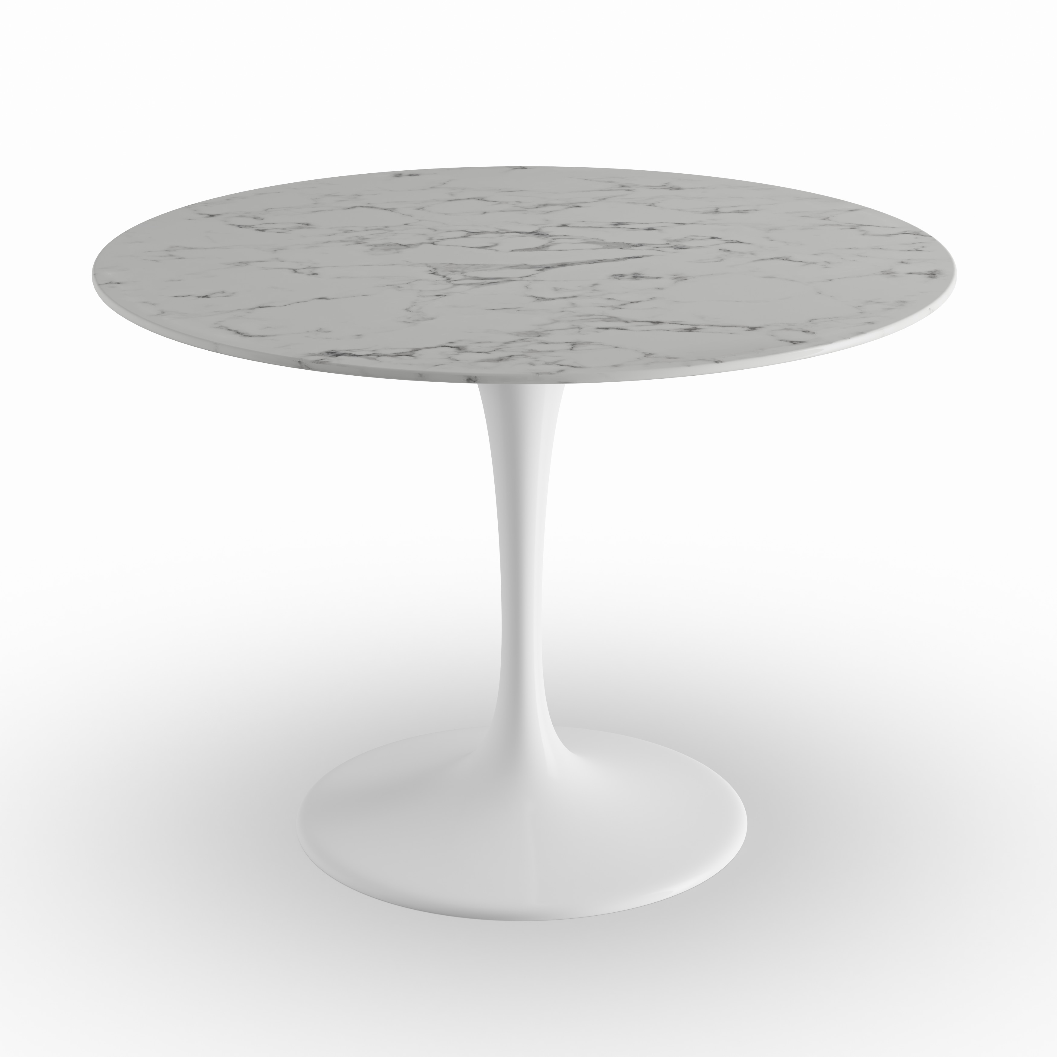 Lippa Marble Top 40 Dining Table In White On Free Shipping Today 9083073