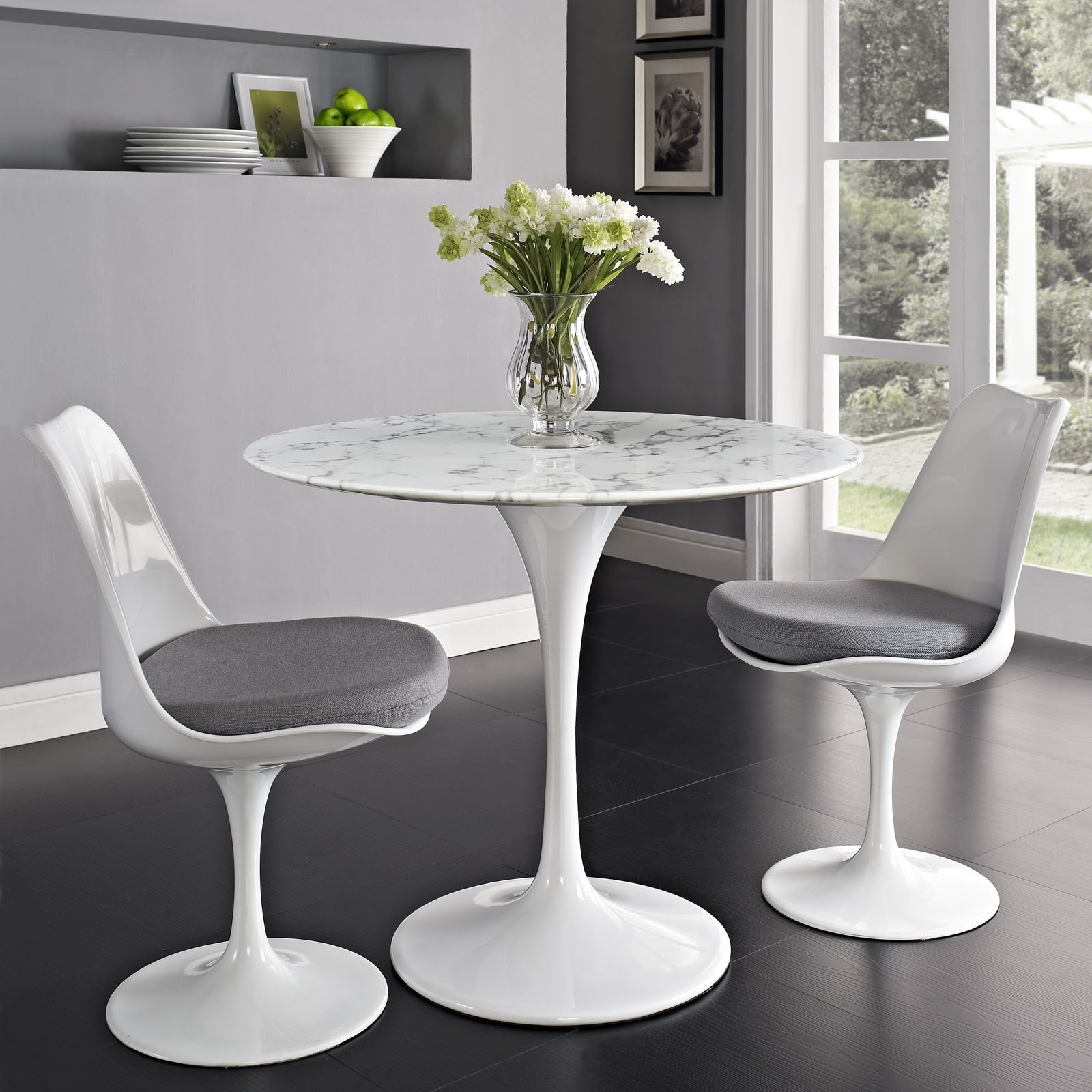 Lippa Marble Top 36 Dining Table In White