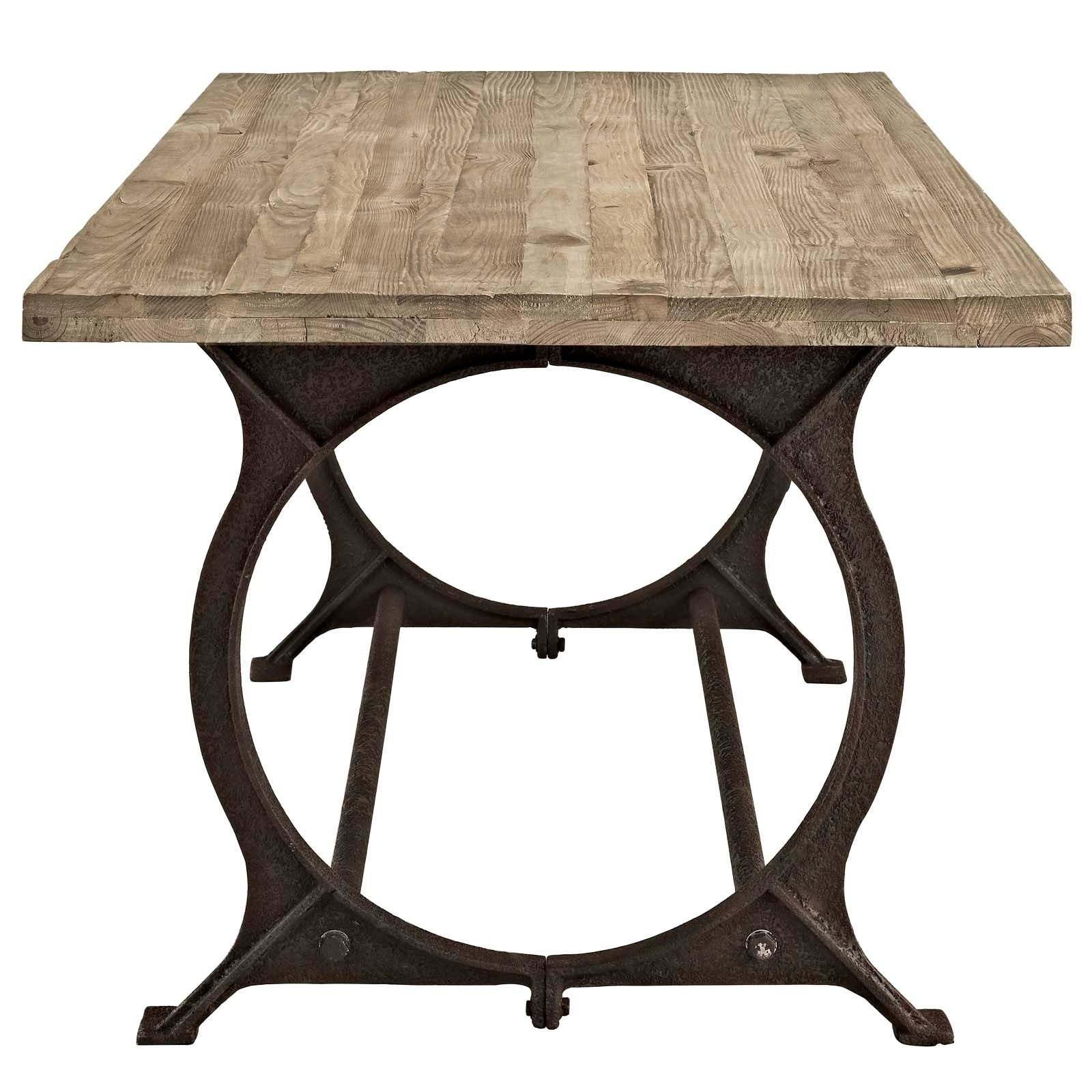 Shop Effuse Wood Top Dining Table Brown Sale Free Shipping