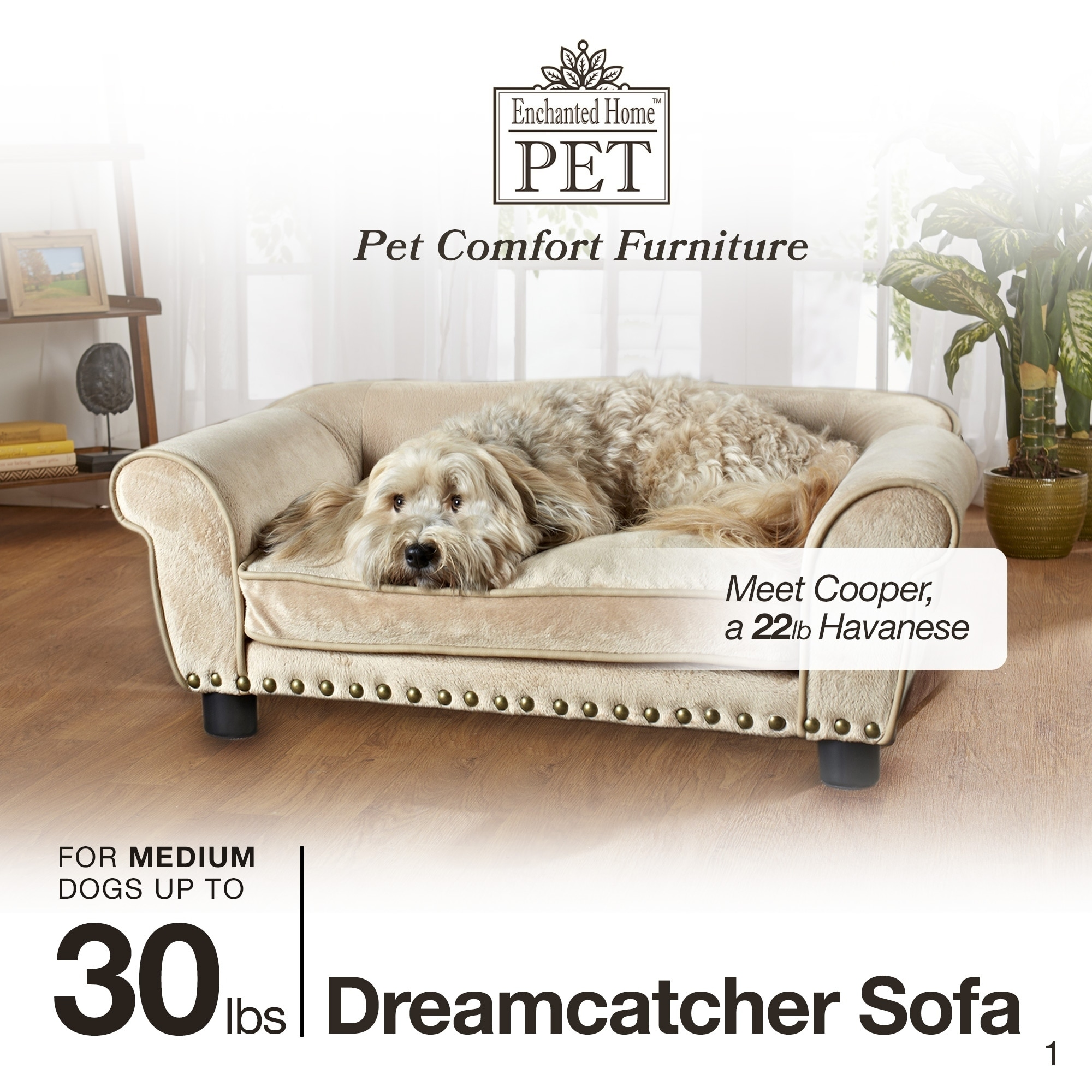 Shop Enchanted Home Pet Dreamcatcher Carmel Pet Bed   Free Shipping Today    Overstock.com   9085405