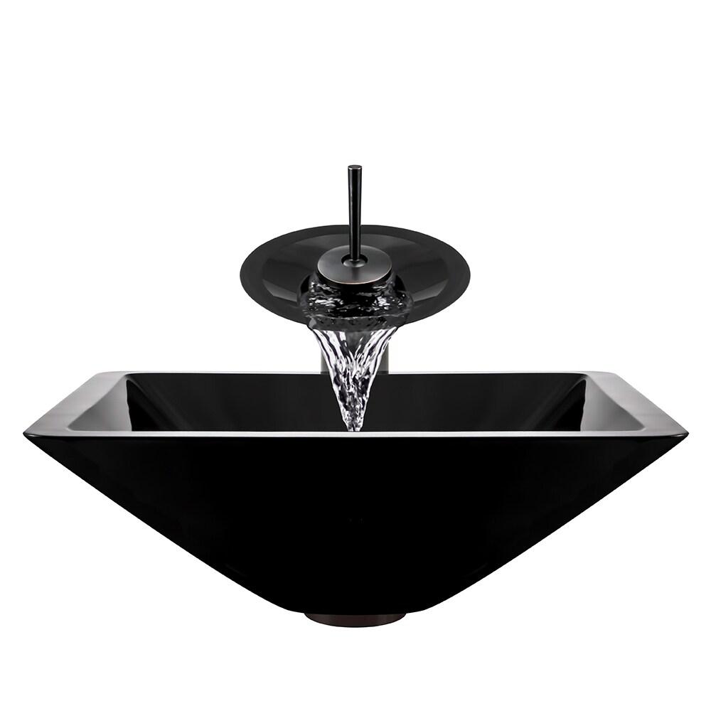 Shop Polaris Sinks Oil-rubbed Bronze Black Square Vessel Sink and ...