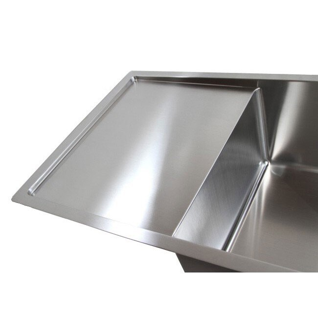 42 inch double bowl undermount 15mm radius kitchen sink with 13 inch drainboard   free shipping today   overstock com   16276667 42 inch double bowl undermount 15mm radius kitchen sink with 13      rh   overstock com