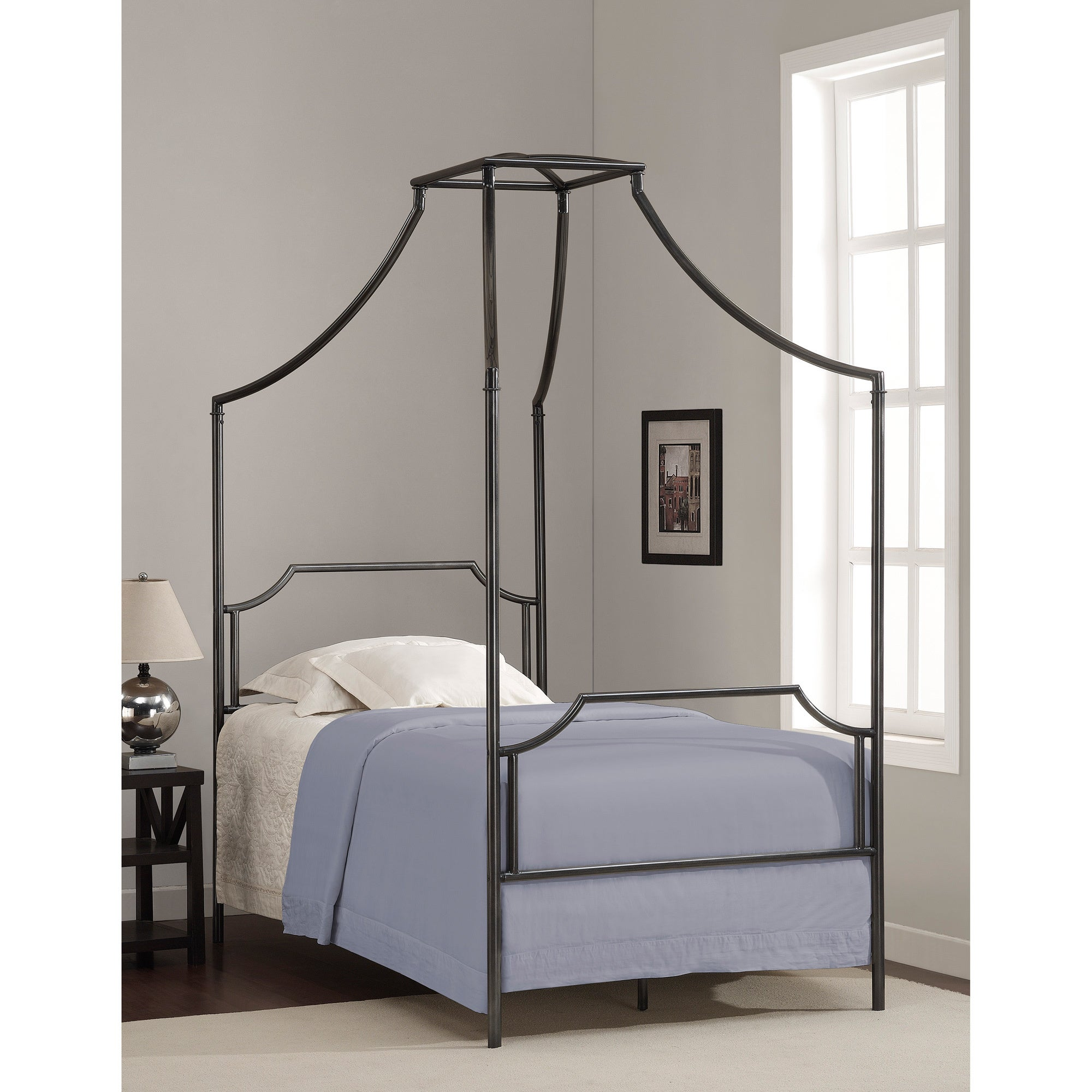 The Curated Nomad Bailey Twin Size Metal Canopy Bed - Free Shipping ...