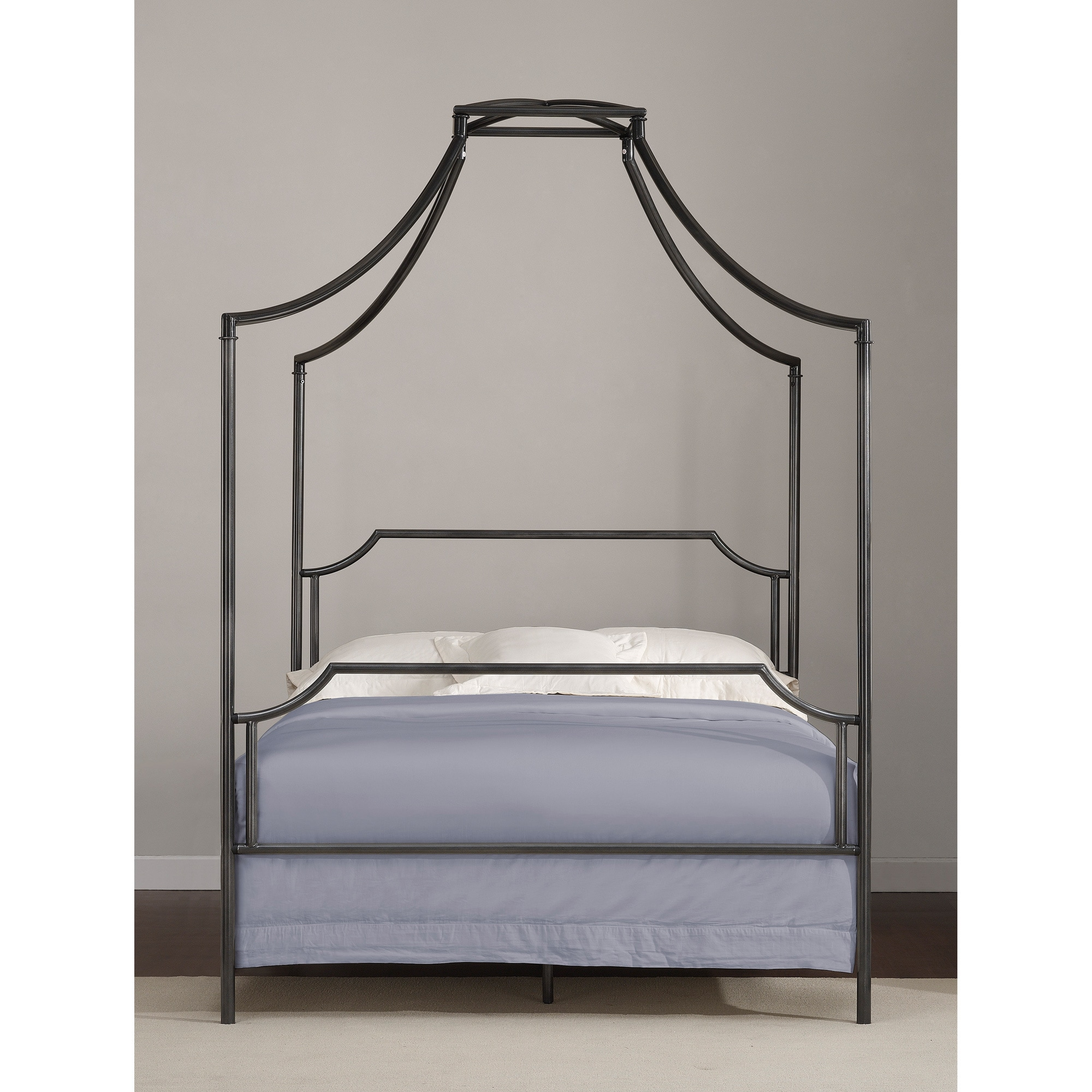 The Curated Nomad Flatiron Full Charcoal Canopy Bed Frame - Free Shipping Today - Overstock.com - 80005251  sc 1 st  Overstock.com & The Curated Nomad Flatiron Full Charcoal Canopy Bed Frame - Free ...