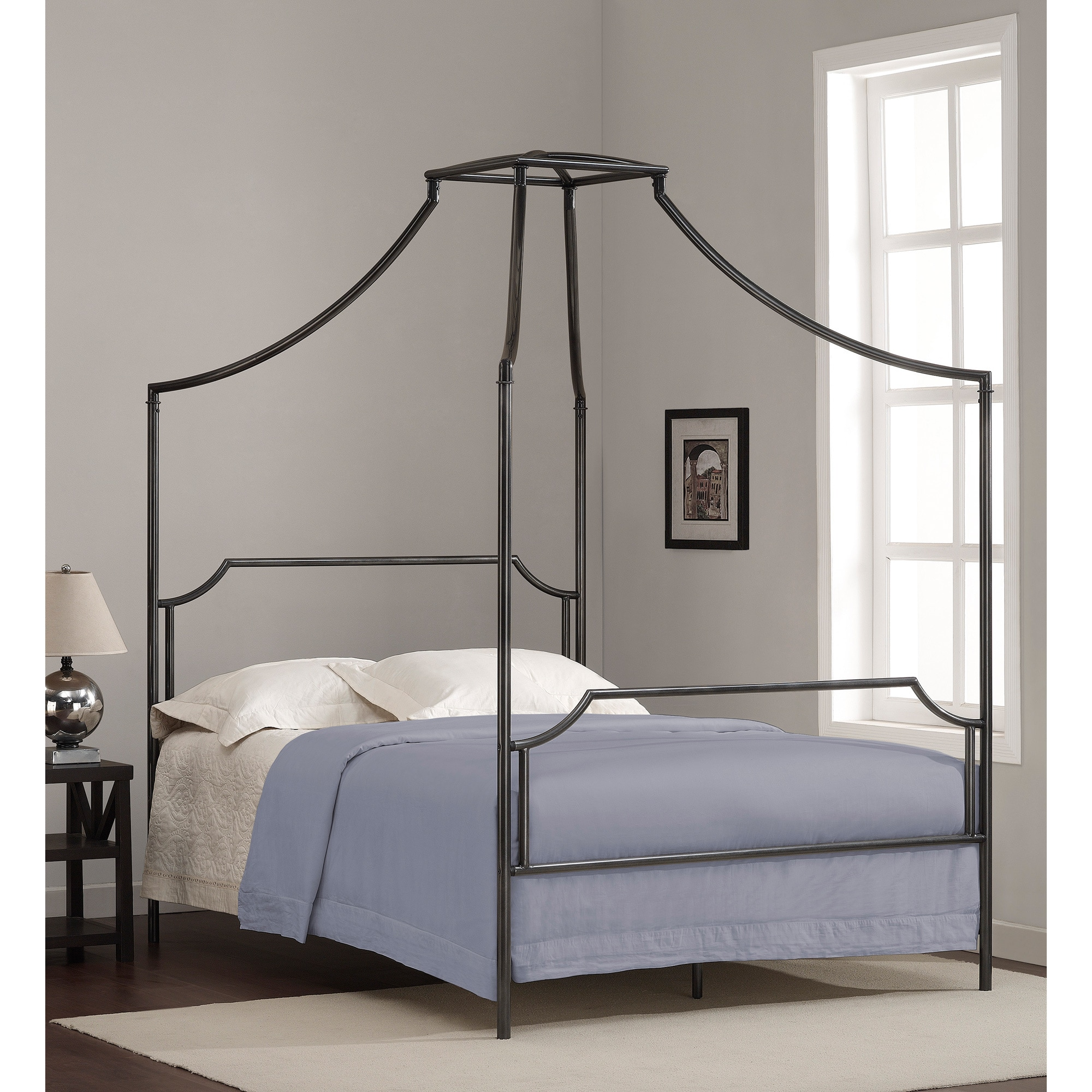 Bailey Charcoal Full Size Canopy Bed Frame
