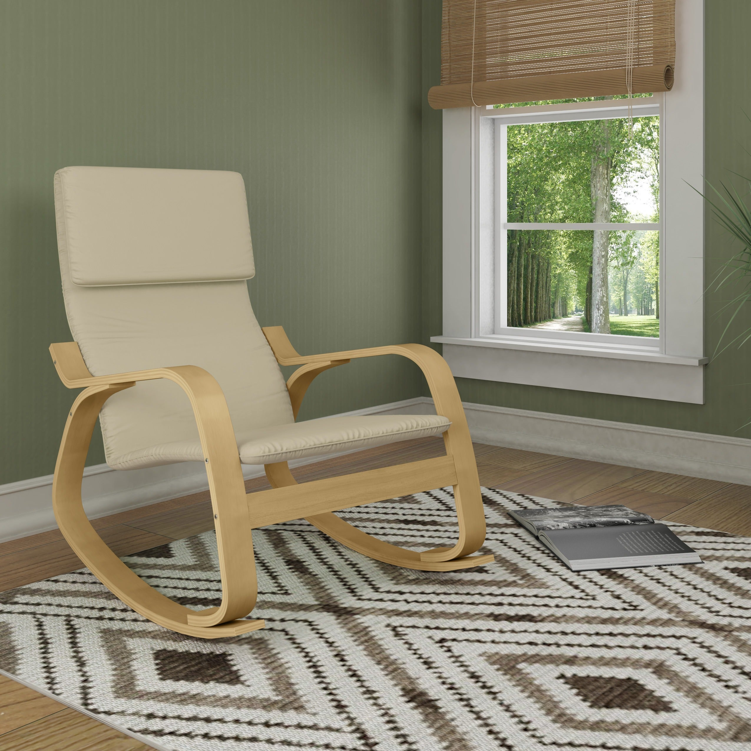 corliving aquios bentwood contemporary rocking chair free