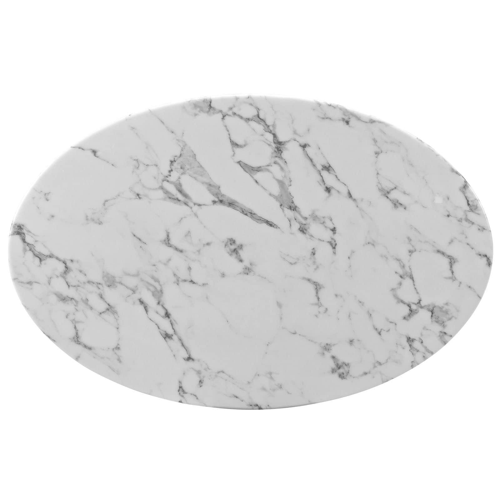 Shop Lippa Marble Ovalshaped White Coffee Table Free Shipping - Oval shaped marble coffee table
